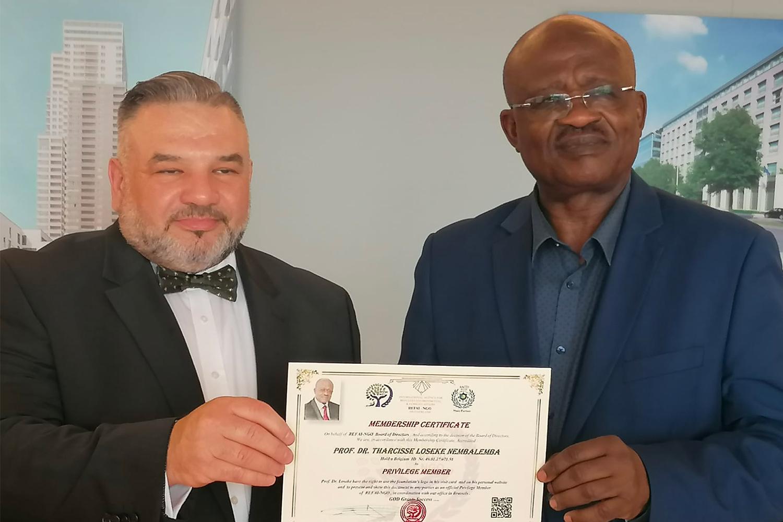 19 June 2021 – Accreditation Of Prof. Dr. Tharcisse Loseke Nembalemba – Democratic Republic Of Congo as Privilege Membe