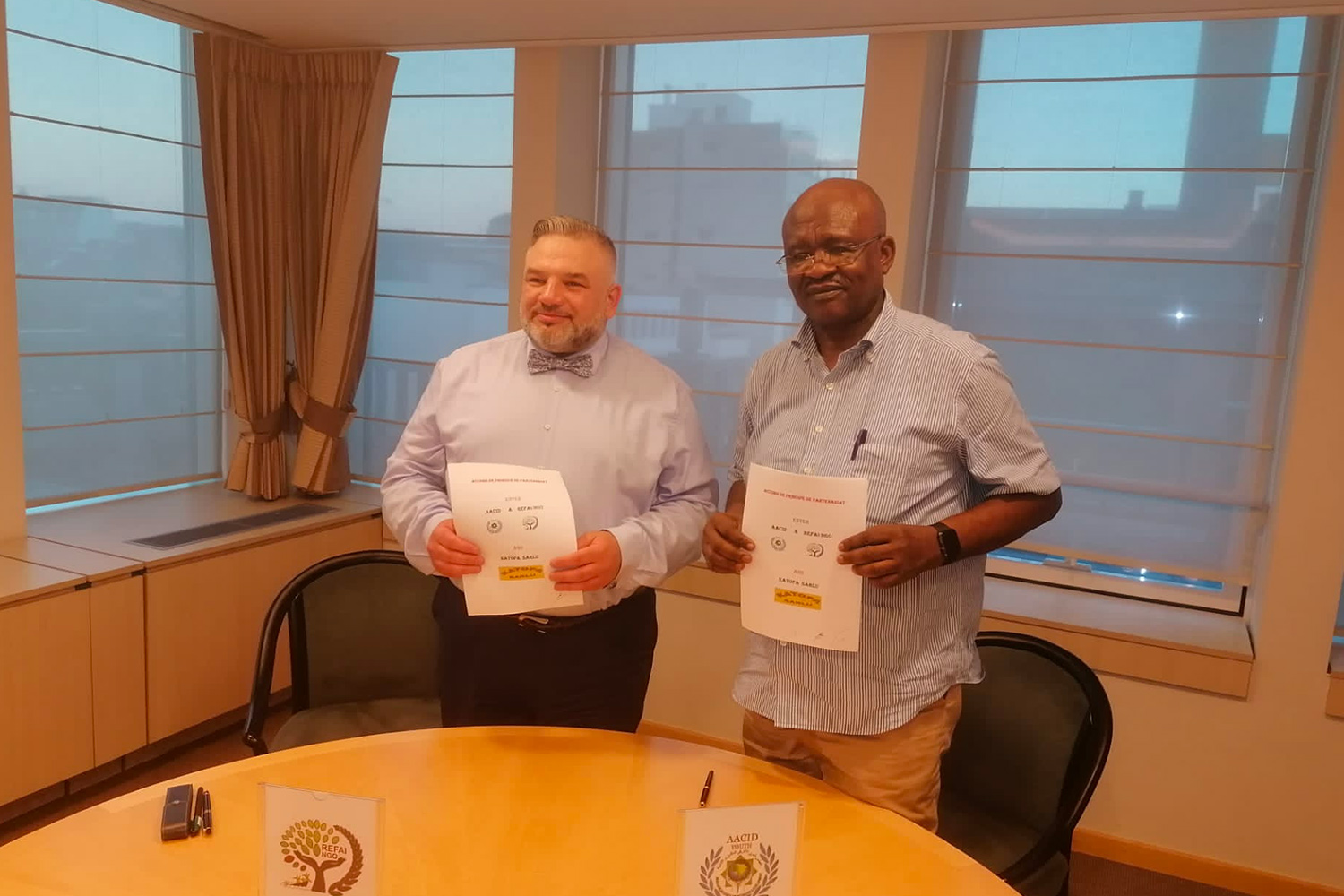 18 of June 2021 signing the Partnership Agreement for Gold Mine in DRC