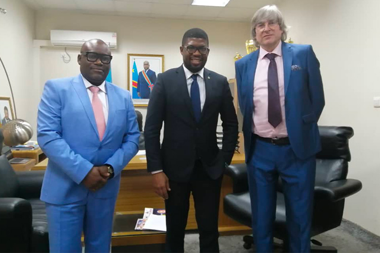 10th May 2021 – Meeting with the Minister of Tourism and Sports (DRC) & our delegation
